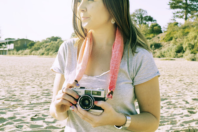 DSLR Silk Scarf Camera Strap location shot