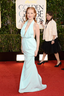 Golden Globes-2013-Red Carpet-Jessica Chastain-Sexy Celebrity