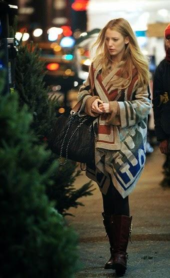 celebrities street style ponchos