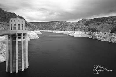 Hoover Dam, Lake Meade, intake towers, infrared, New Braunfels photography