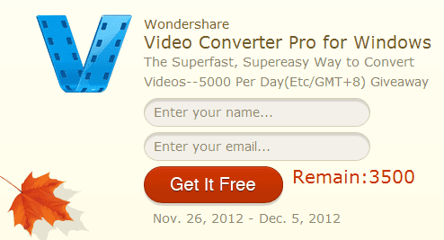Wondershare Video Converter Pro giveaway
