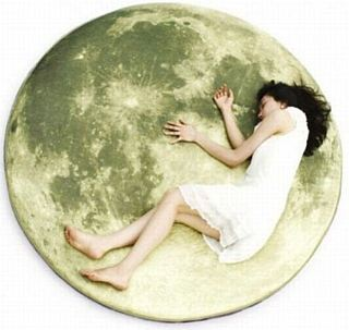 girl sleeping moon