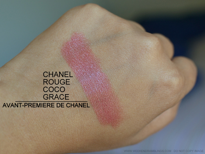 Chanel Rouge Coco Lipstick Grace 52 Peach Coral Brown Photos Swatch Review FOTD Indian Darker Skin Beauty Makeup Blog