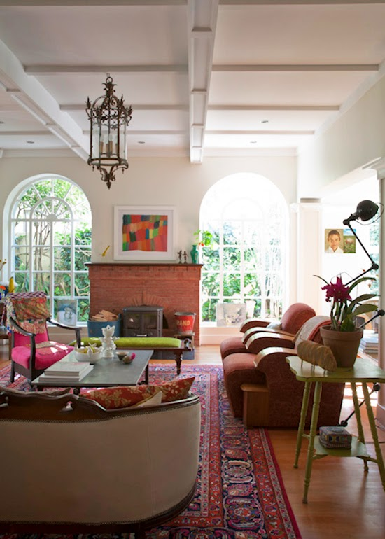 Safari Fusion blog | Lounging around | Eclectic style in a Saxonworld (Johannesburg) home, South Africa via David Ross Photography