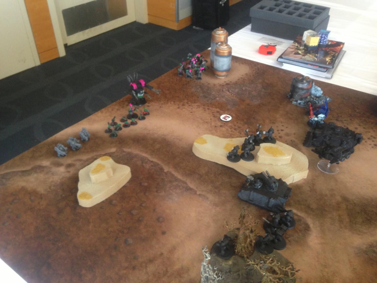 BAO 2014, Pink Orks, Space Marines, Beginning Battle