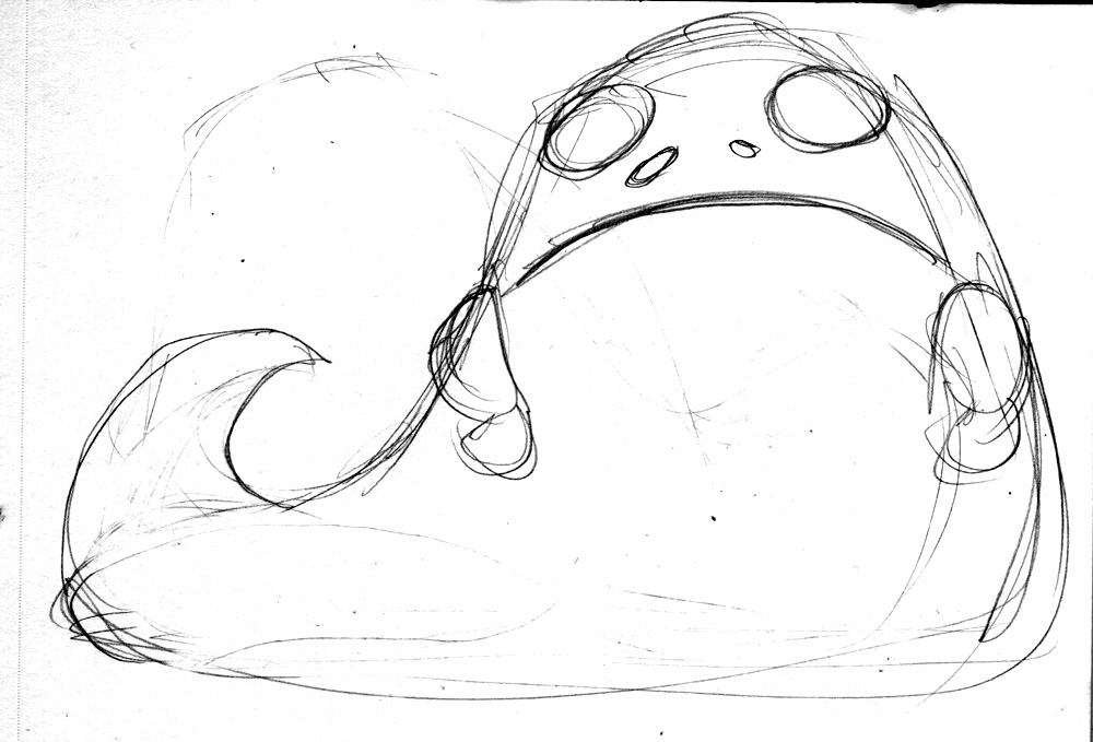 how to draw jabba the hutt