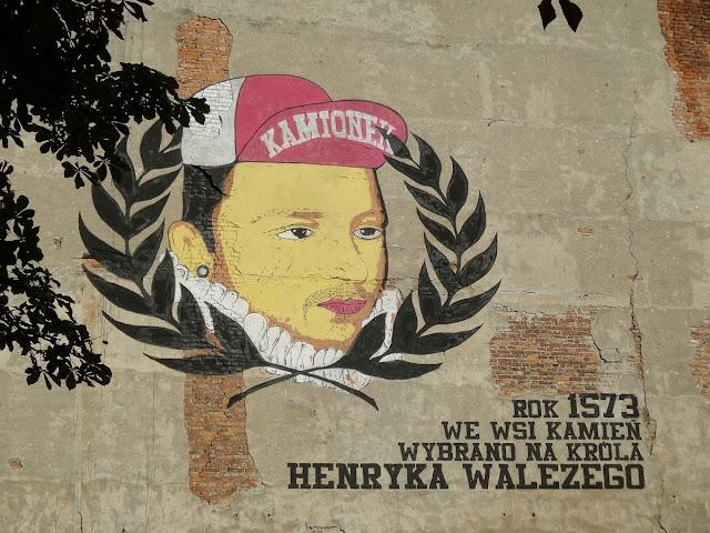 Mural Kamionek - Henryk Walezy