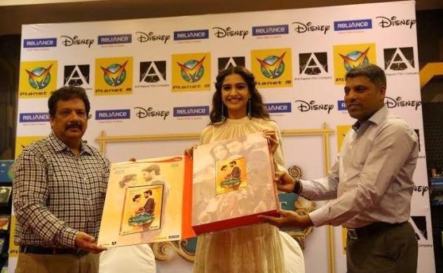 Sonam Kapoor launches the DVD of 'Khoobsurat' movie