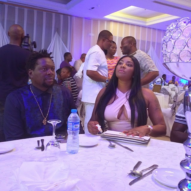 Actress Angela Okorie spotted with Slow Dogg and Klint 3