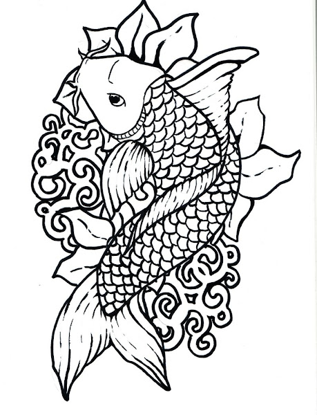 Fish Coloring Pages Dltk