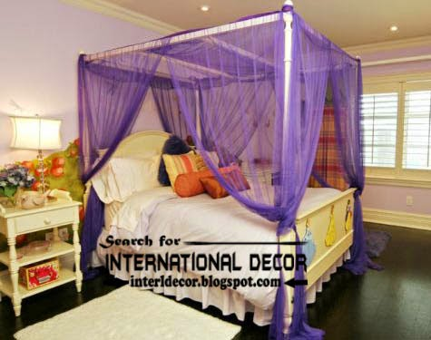 largest catalog of purple curtains and drapes 2015, romantic purple canopy bed