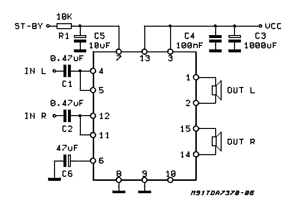 amplifiercircuits com  bridge amplifer