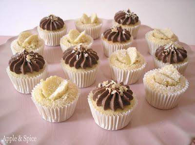 Birthday Mini Coconut Cupcakes 2 ways – Chocolate and Coconut & Lime ...