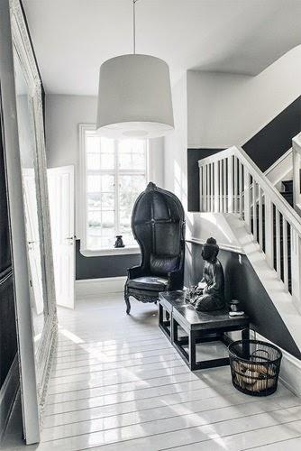 casa decorada en blanco y negro