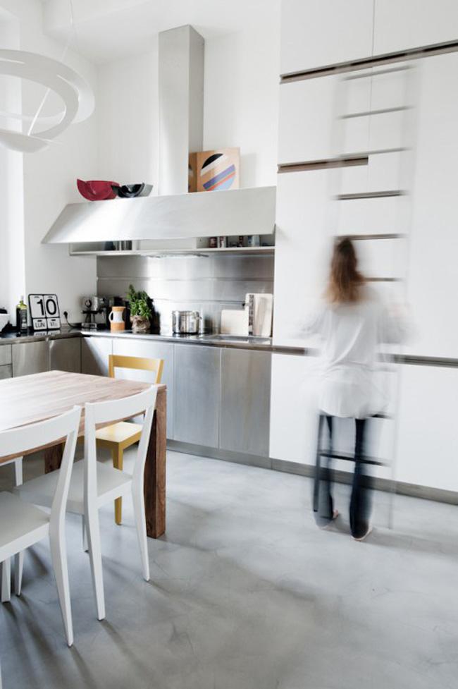 vista cocina espacio pequeño loft 30m2