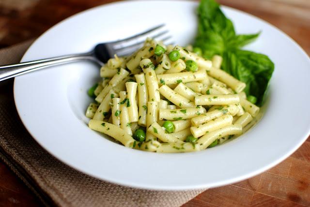 Lemon Basil Pesto Pasta l SimplyScratch.com