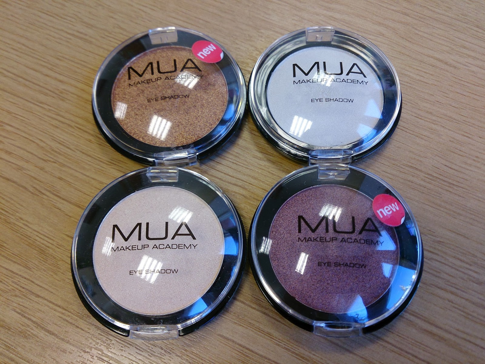 MUA makeup academy bronze brown red white cream glitter eye shadow dupe