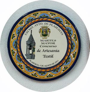 Premio en Artesanía Textil en el Martes Mayor de Plasencia
