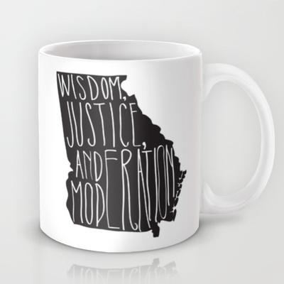 georgia motto coffee mug