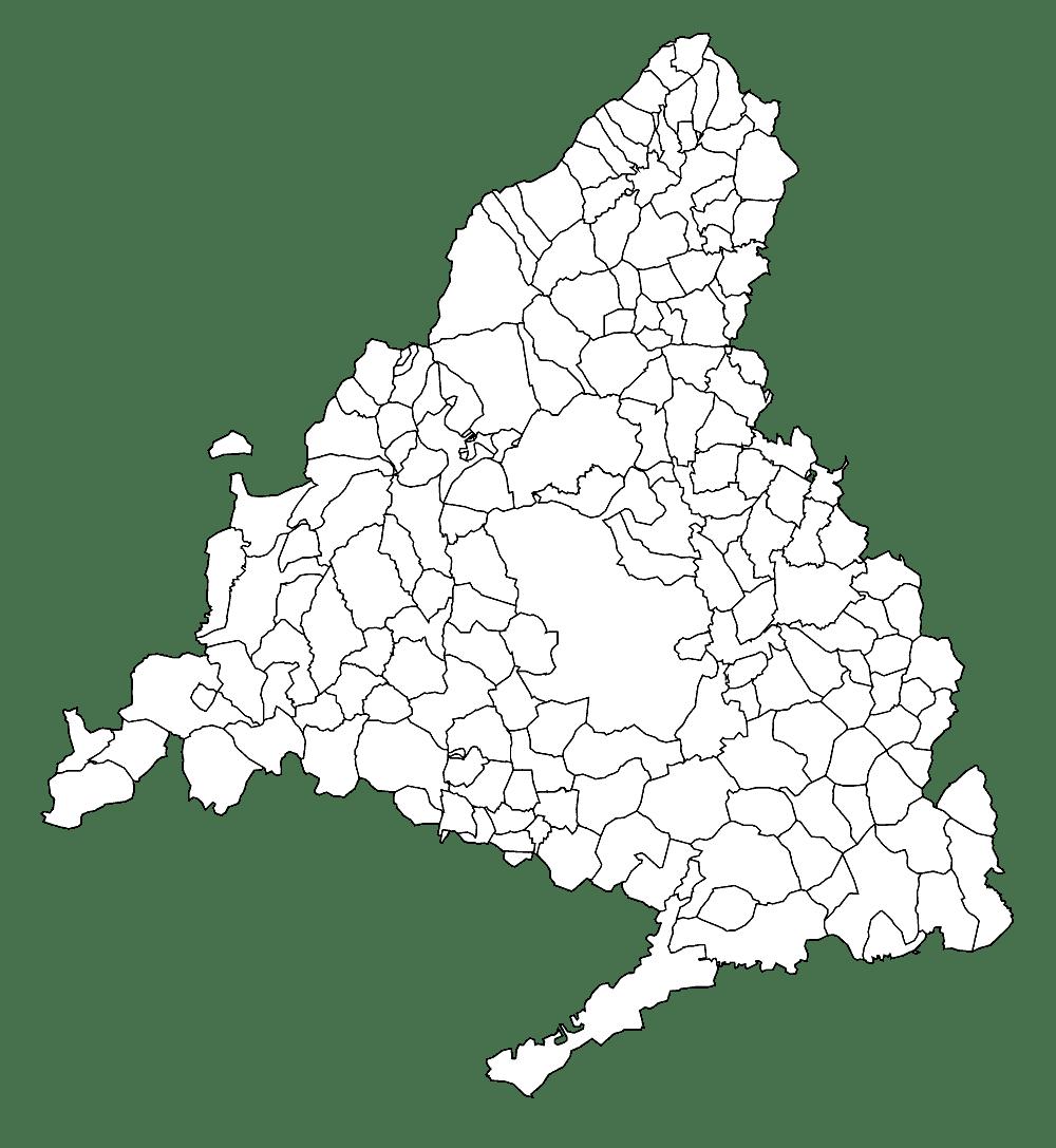 Mapa mudo de Madrid para imprimir