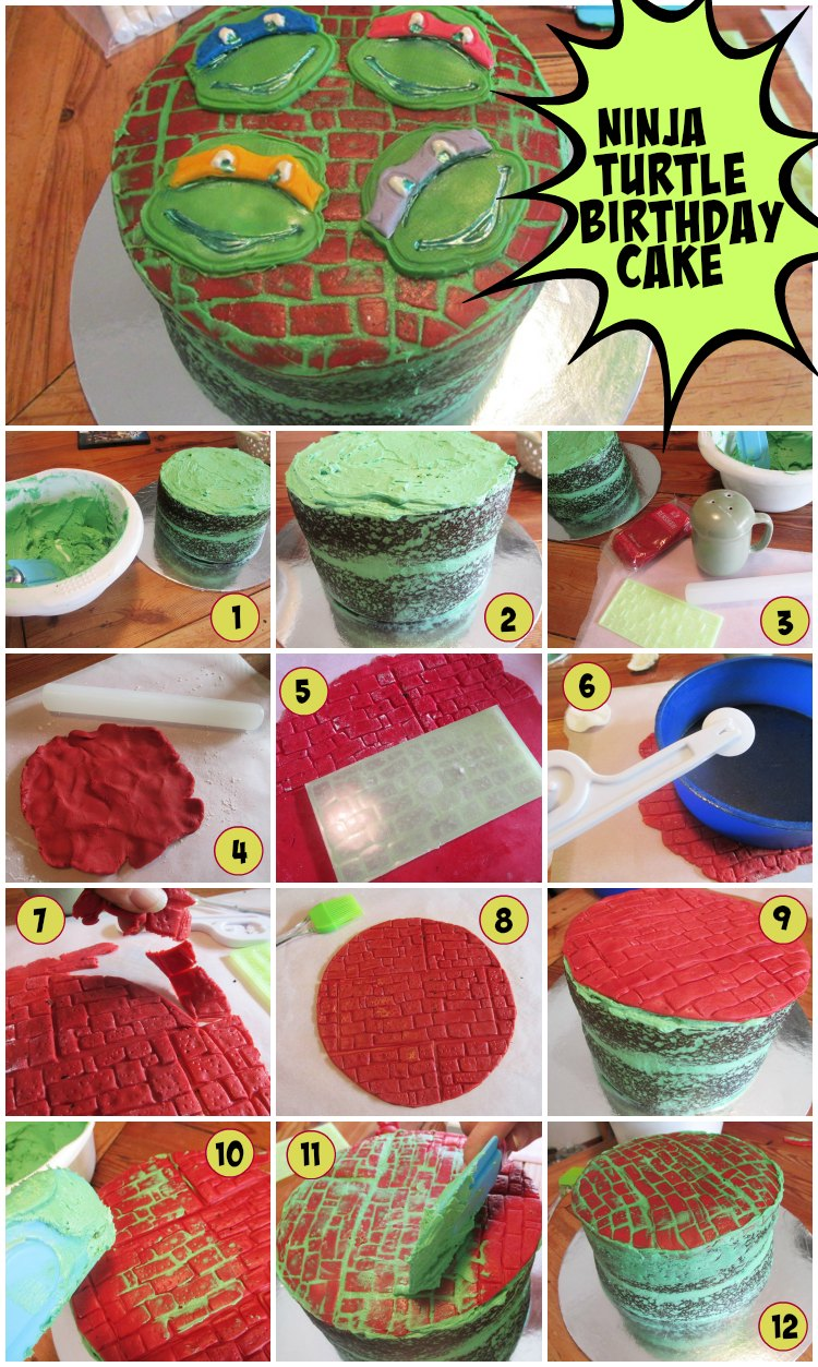 How to make a Ninja Turtle Birthday Cake