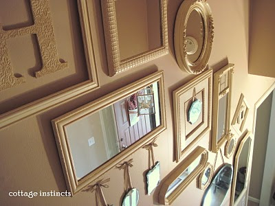 Mirrors up staircase