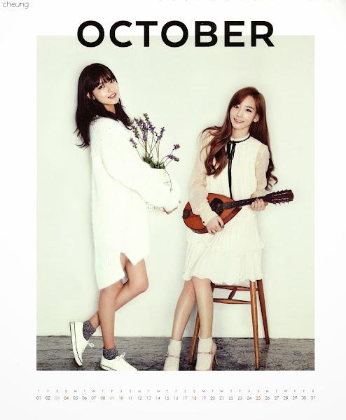 snsd sooyoung taeyeon calendar 2015