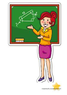 profesora explicando en la pizarra