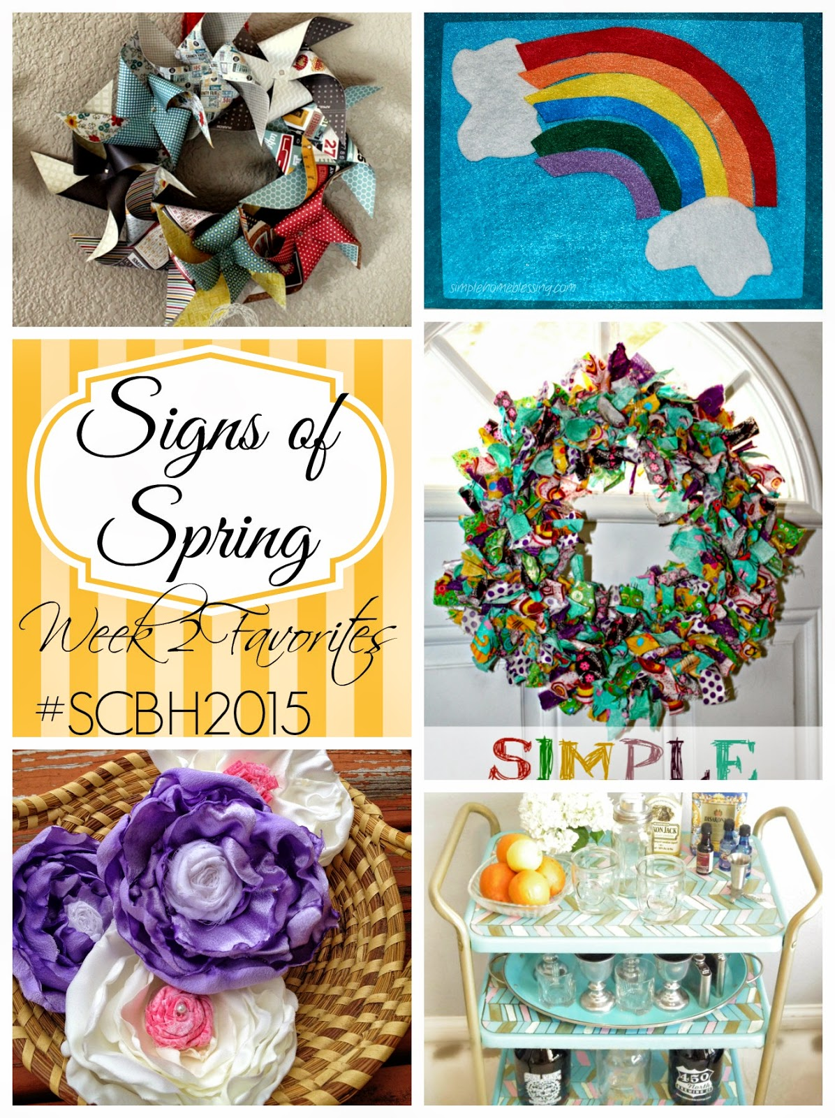 Signs of Spring #2: A round up of favorite projects linked up to the Spring Craft Blog Hop