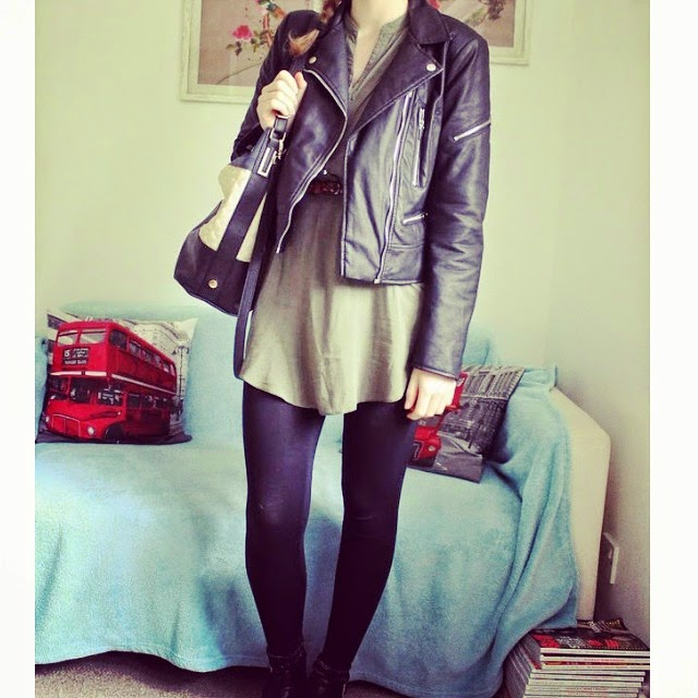 Military Style OOTD with the Leather Jacket