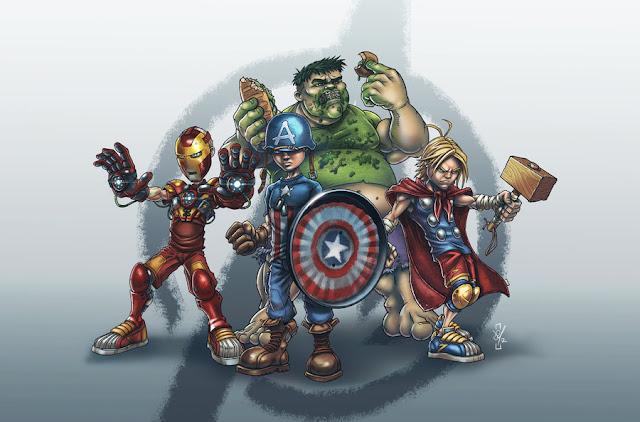 School Yard Avengers por DazTibbles