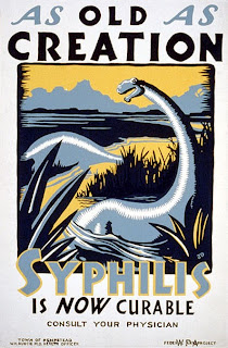plakat propagandowy - syfilis