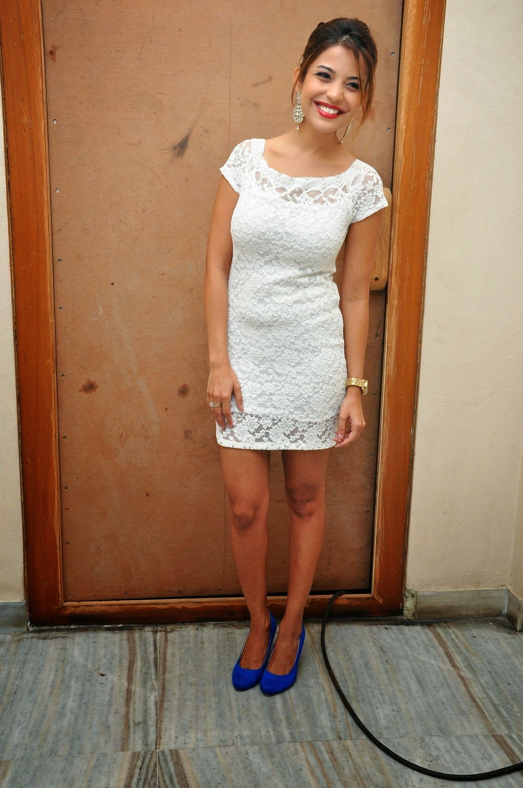 Actress Adonica New Pictures in Short Dress at Romeo Movie Audio Launch  19.JPG