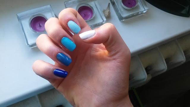Niebieskie ombre ;)
