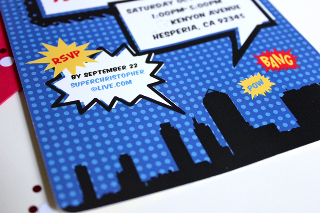 Pow! Bang! Boom! Bright And Bold Comic Book Style Birthday Invites For My  (cheyu0027s) Little Superhero Of A Nephew! Christopher Is Turning 7 This  October And ...