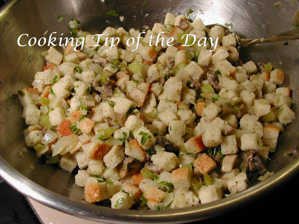 Cooking Tip of the Day: Recipe: Bread Stuffing