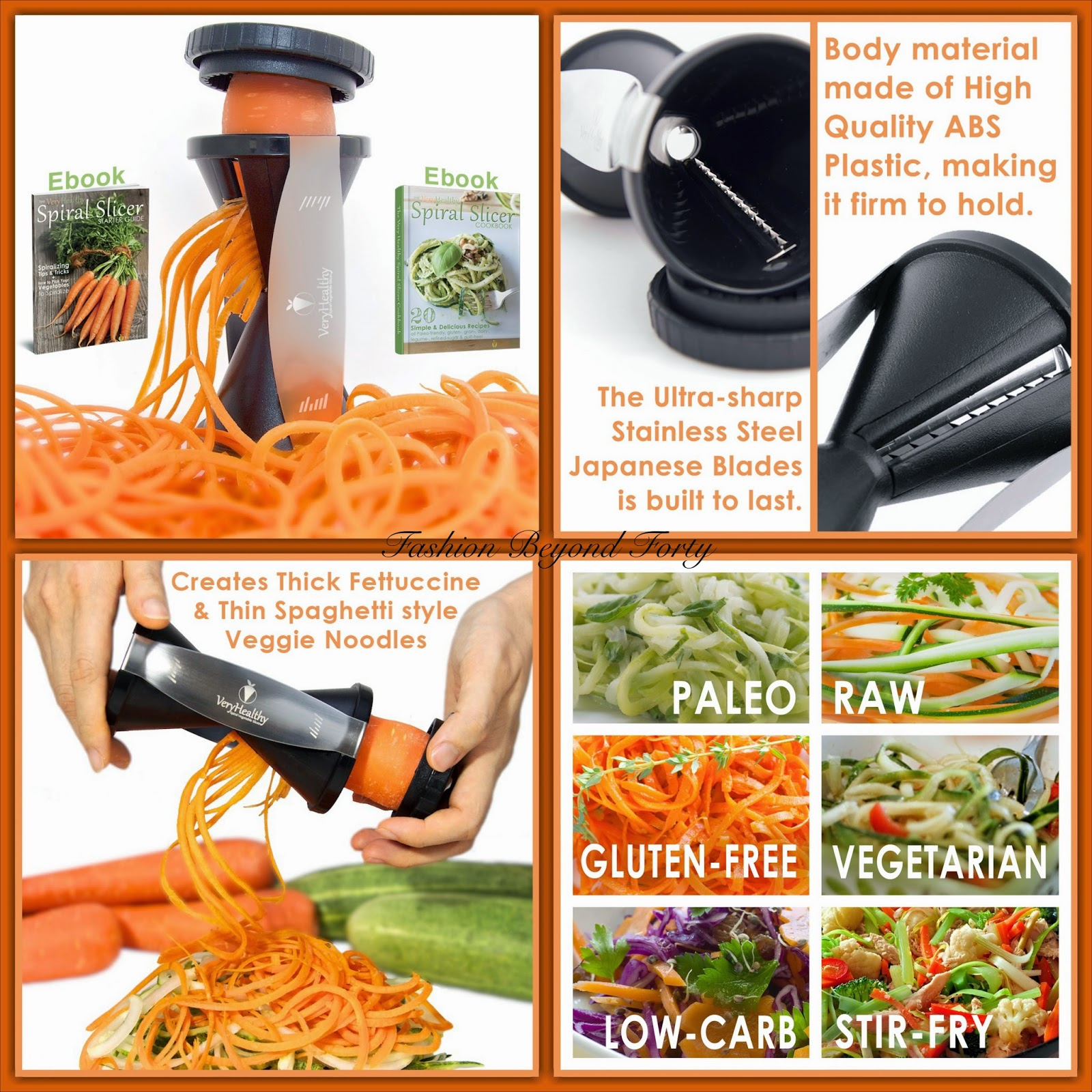 Healthy Vegetable Spiralizer Review and Giveaway