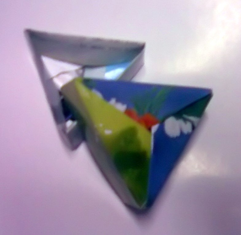 reuse,recycle, Paper Folding,triangle box lid,fold paper,origami box ,crafts