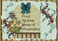 I made it to TOP 3 at Whoopsi Daisy, Celebrations Challenge! :D