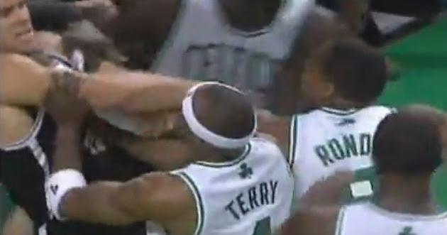 My Spizzot Watch Boston Celtics Vs Brookyln Nets Brawl With Rajon Rondo Kris Humphries