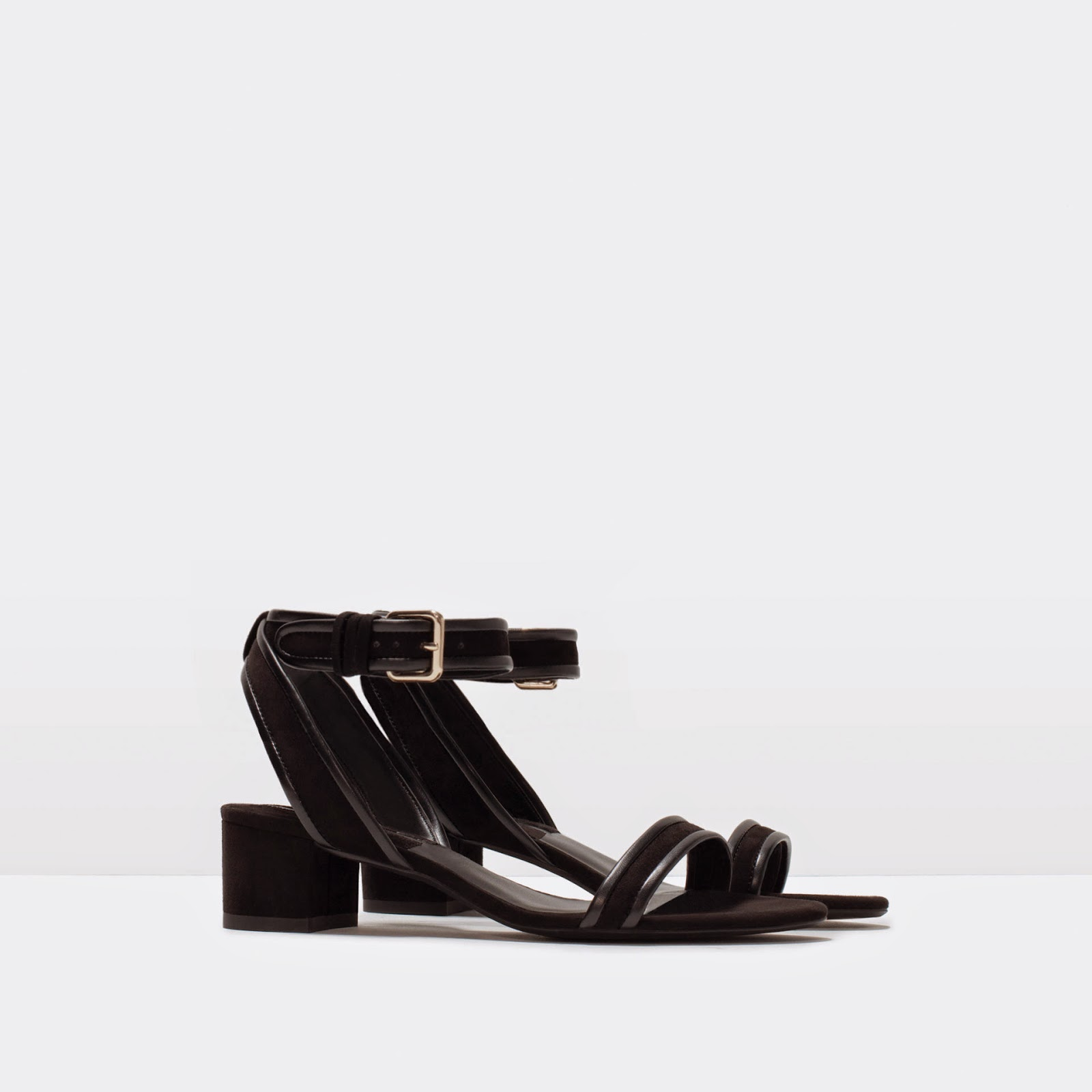 Wide Heel Sandal With Ankle Strap