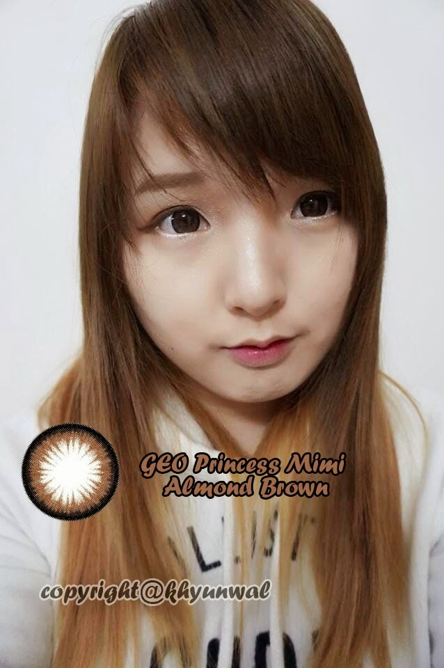 Geo Princess Mimi Almond Brown colored contacts