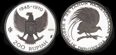 Uang Koin Pecahan 200 Rupiah 1970