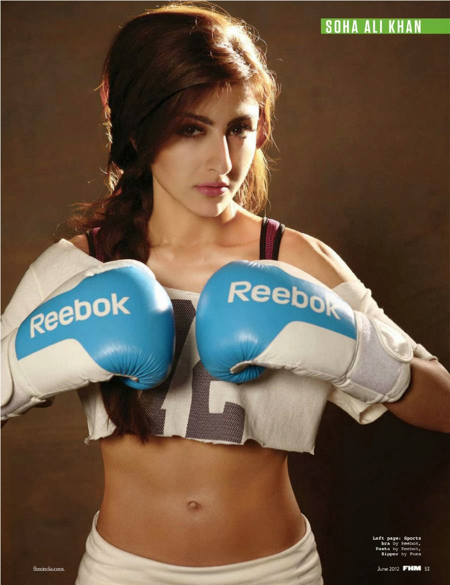 Soha-Ali-Khan-flaunting-her-flat-abs-in-FHM-India-magazine-photoshoot