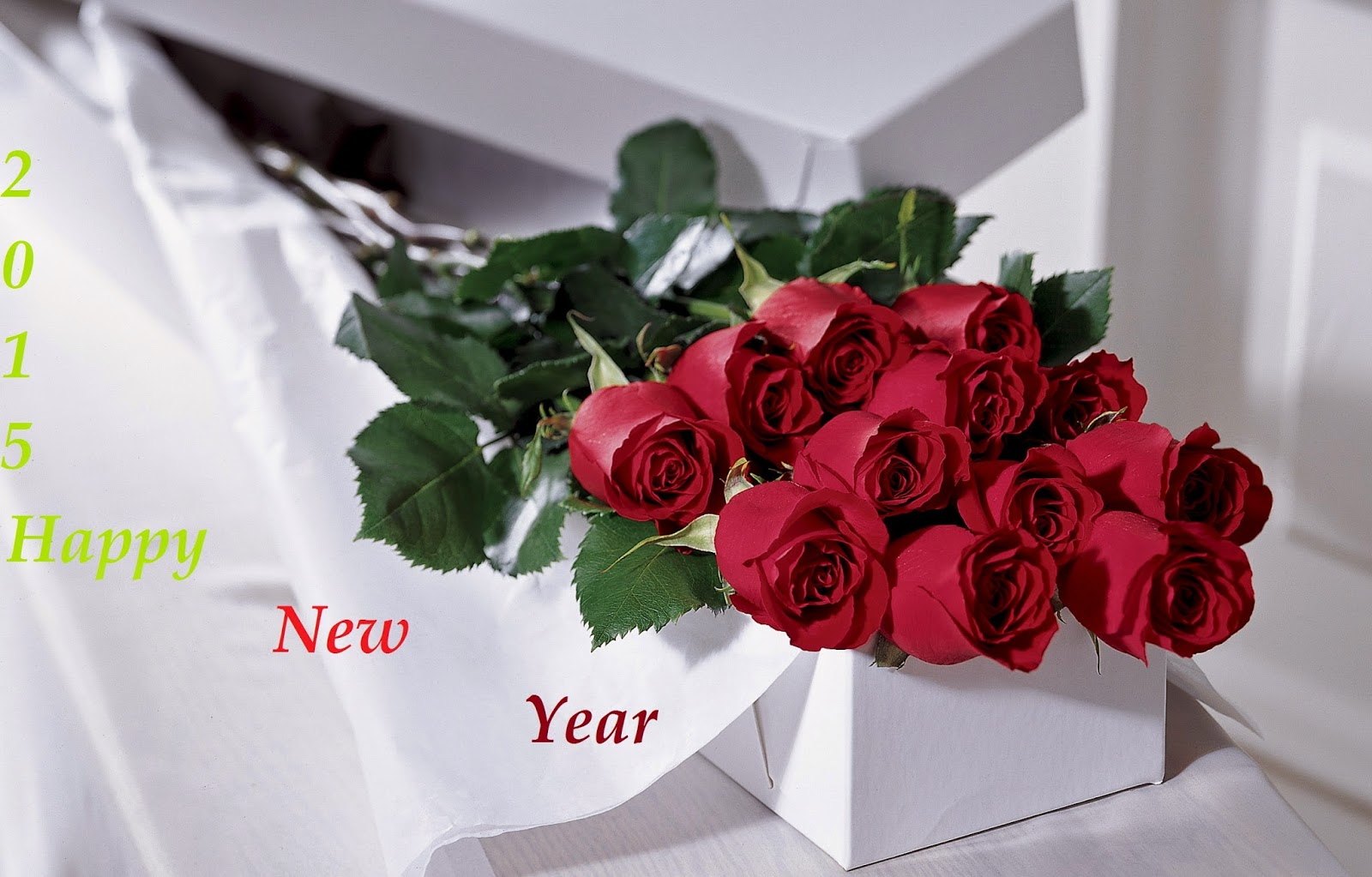 happy new year 2015 red roses wallpaper