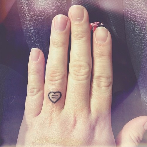 little heart on finger female tattoofemale tattoos gallery