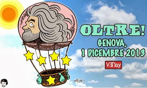"""GRILLO VOLA IN MONGOLFIERA E VA """"OLTRE V3DAY"""""""