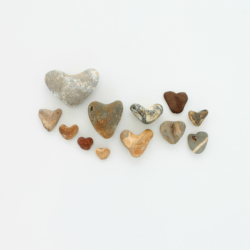 collected treasures - heart stones