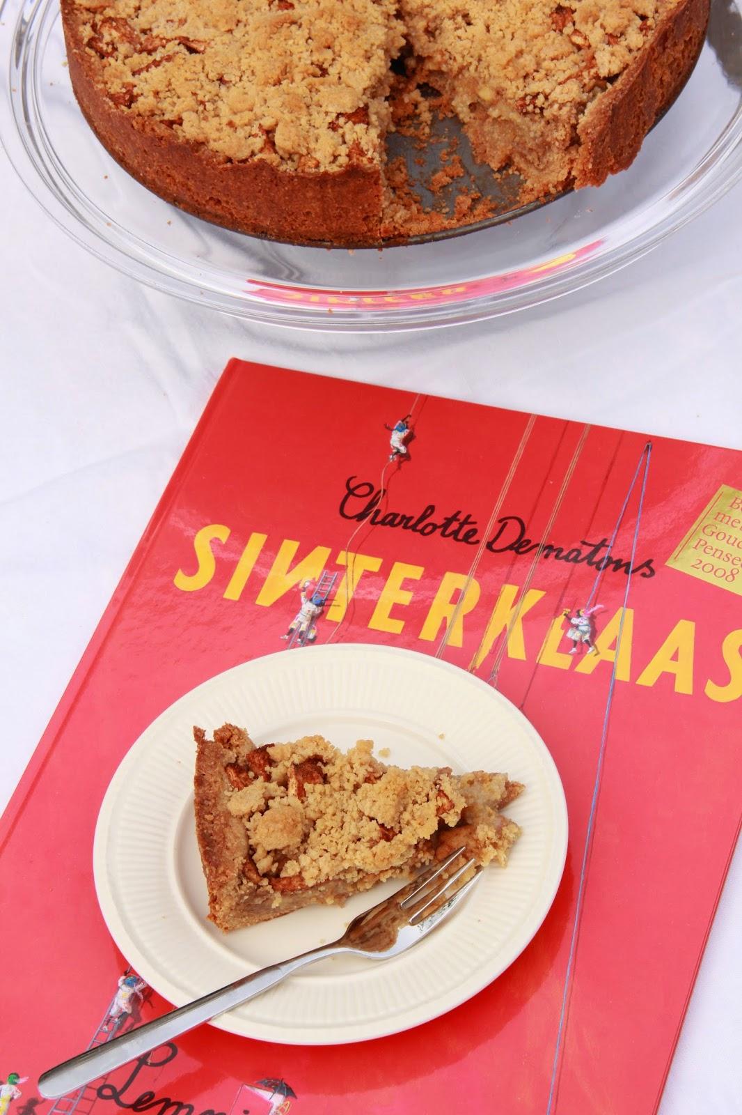 Speculaas crumbletaart met amandelspijs & appel - www.desmaakvancecile.com