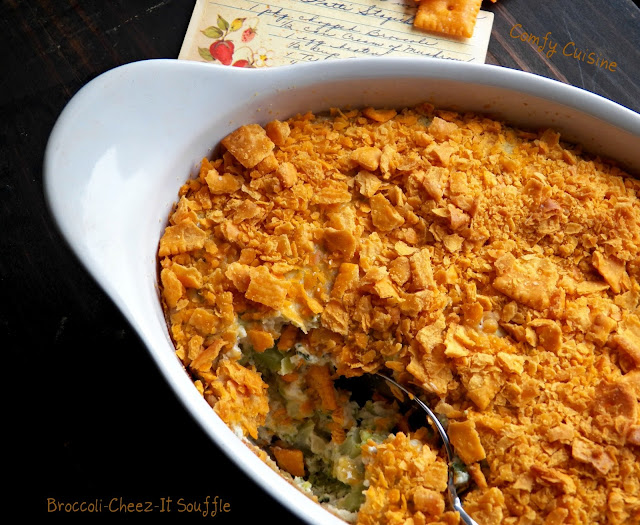 Comfy Cuisine: Broccoli-Cheez-It Souffle